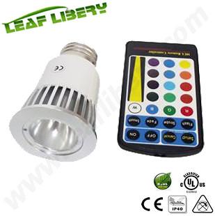 leaflibery 5W,3W RGB spot light