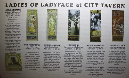 Ladyface Beers