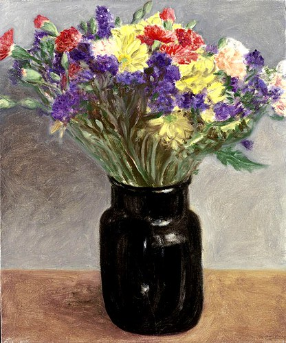 Arikha, Avigdor (1929-2010) - 1991 Flowers in a Black Vase (Private Collection)