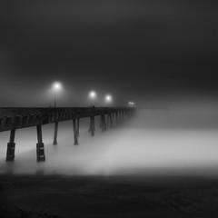 into the fog (nlwirth) Tags: pier yup pacifica sonyalpha700 1118mmwideangle bestcapturesaoi nlwirth elitegalleryaoi revherschellharkinsmemorialpacificapier nofiltersjustfogandnotmuchlight