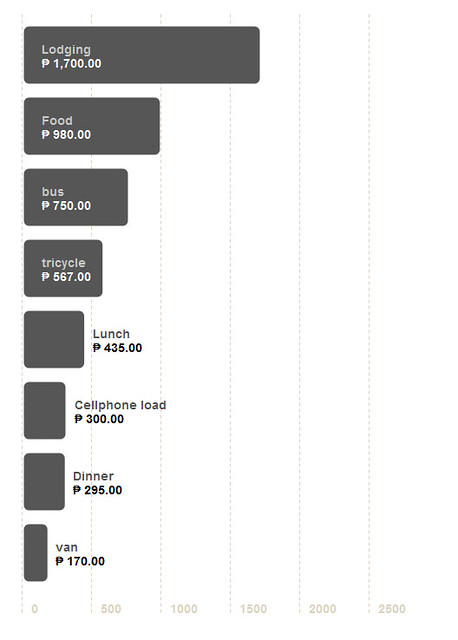 Claveria Travel Expense Chart
