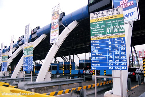 north luzon expressway toll fees