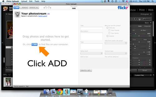 Using Flickr Uploadr Step 1