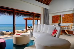 Seascape Escape Living Room (Get into Maldives Travels) Tags: ocean travel family wedding haven tourism beach star hotel heaven paradise honeymoon anniversary w azure lovers oasis beaches accommodation excursions maldives luxury starwood hotac