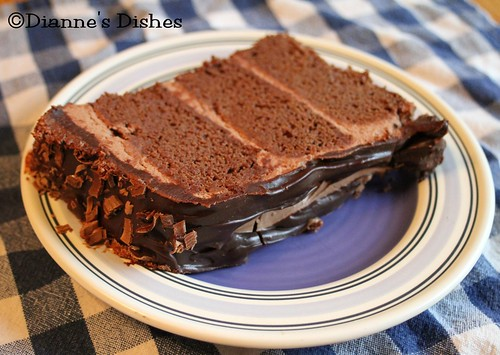 Triple Chocolate Ganache Cake: A Slice