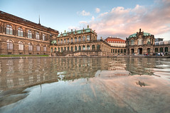 dresden_zwinger (karl.wagner.photography) Tags: sunset sky water architecture reflections germany dresden zwinger nikon hdr d90 photomatix top502011 artgraphytop302011