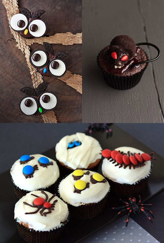 Halloween Cupcakes Collage