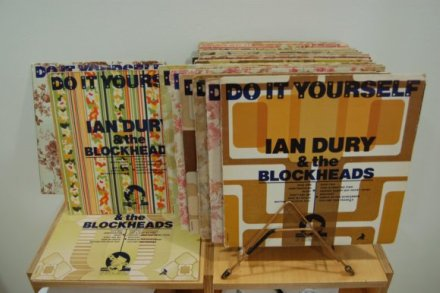 Barney Bubbles sleeve variants for Do It Yourself by Ian Dury & The Blockheads, as featured in the exhibition Ideal Home at Chelsea Space, London.