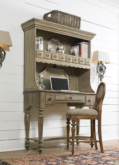 vintage hooker furniture desk. Vintage Hooker Furniture Desk Trestle Writing With Scroll O