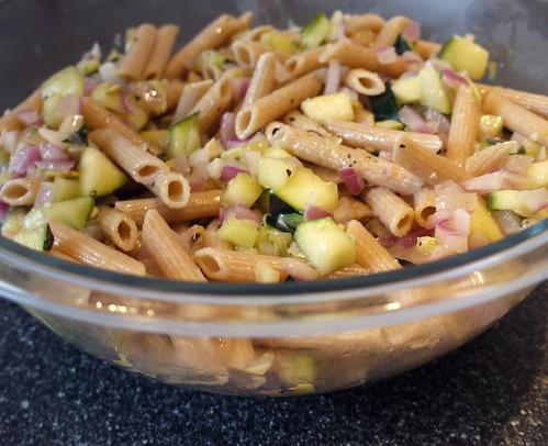 zucchini recipes - Whole Grain Penne and Zucchini