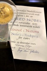 United Nations: Nobel Peace Prize (Peter Denton) Tags: newyork typography words politics un unitednations script citation nobelpeaceprize typographie alfrednobel internationalaffairs canoneos60d peterdenton