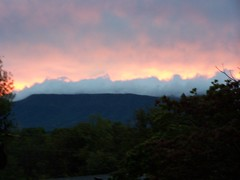 sunset,mountain,evening,tennessee