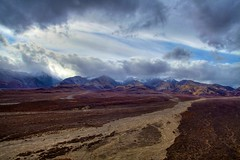 Polychorome (ab.photo) Tags: park mountain mountains weather alaska clouds river bed saveme4 deleteme10 pass glacier national valley glaciers denali polychrome