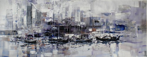 Harbour Scene   Original