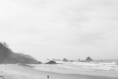 (Daniel Cormier) Tags: ocean beach water rock oregon rocks waves wave september pacificocean cannonbeach ecolastatepark 2011