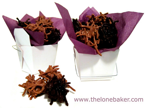 Chocolate Peanut Butter Spiders by The Lone Baker