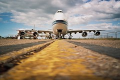 Runway. (DJ Bass) Tags: tarmac wings aircraft airplanes flight af yashica minitec aerodromes yashicamini