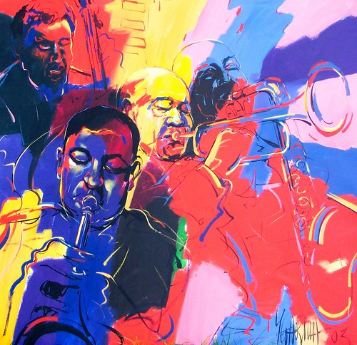 Blues & Jazz - Painting - 120 x 120 cm