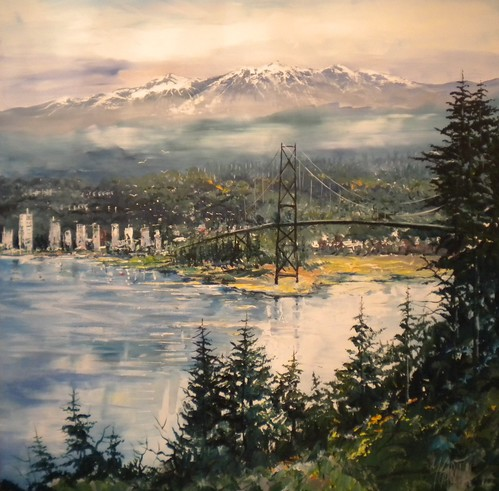 West  Vancouver Scene - Painting - Impressionism