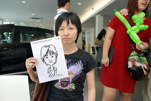 Caricature live sketching for Performance Premium Selection first year anniversary - day 3 - 20