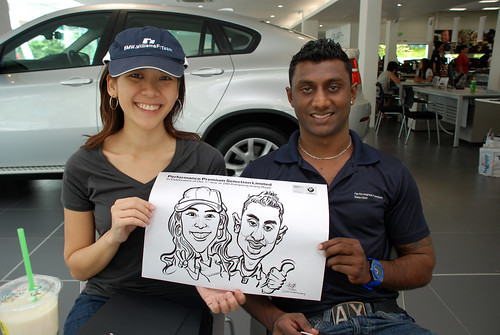 Caricature live sketching for Performance Premium Selection first year anniversary - day 4 - 10