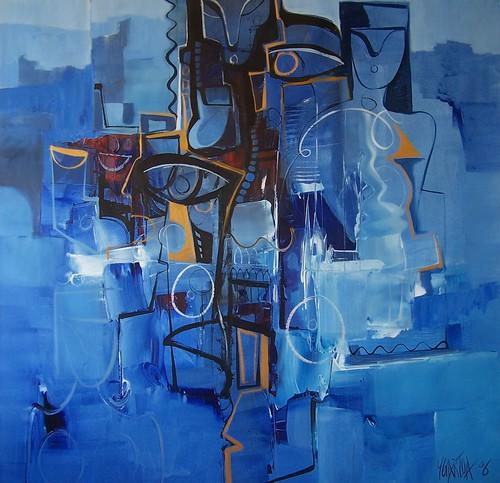 Blue Eye - Painting - Figurative