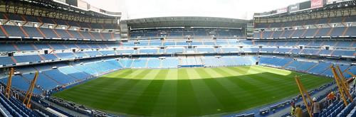Panorámica del Estadio Santiago Bernabeu