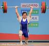 MANEZA Maiya KAZ 63 kg (Rob Macklem) Tags: kaz 63kg olympicweightliftingkoreaworldchampionshipsgoyangcity manezamaiya olympicweightliftingkoreawor weightclasses