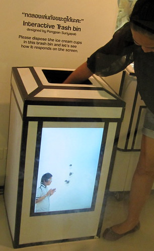 interactive trash bin, Bangkok