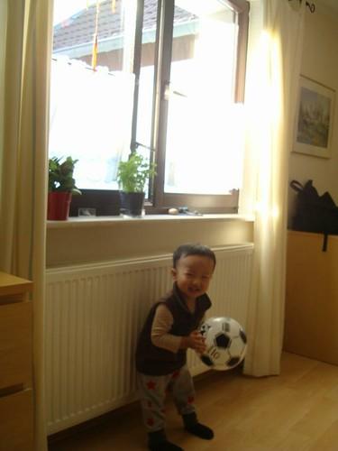這個足球是我的新玩具