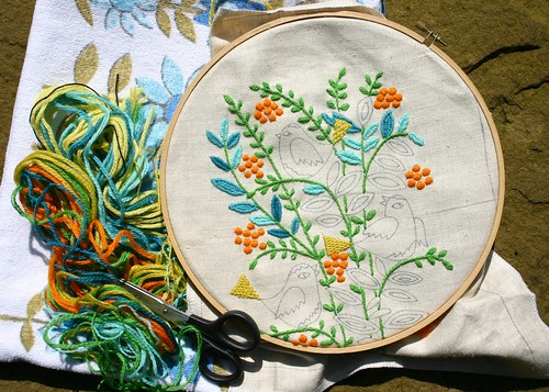 Embroidery progress