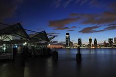 WFC Ferry Terminal (R n P) Tags: nyc newyorkcity longexposure sunset newyork newjersey jerseycity manhattan hudsonriver ferryterminal wfcferryterminal