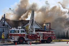 Geniis Fire 10 (hz536n/George Thomas) Tags: water canon fire lab michigan smoke september burning canon5d fireengine upnorth tawas smrgsbord easttawas labcolor ef24105mmf4lisusm cs5