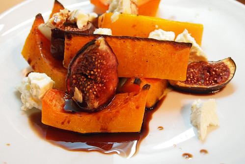 Roast squash and figs with cheese
