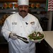 Chef Jesus Castañeda with Spinach, Prosciutto and Tomato Salad