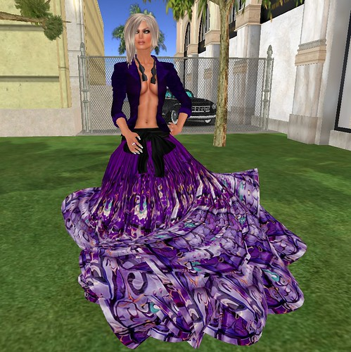 GIZZA Maxi skirt and Velvet Jacket purple by mimi.juneau *Mimi's Choice*