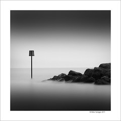 Lyme Regis Sea Marker (Mike. Spriggs) Tags: longexposure sea coast harbour lymeregis seamarker