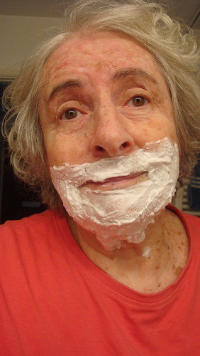 Shaving at 77 - that is life by Julie70