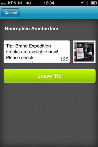 Foursquare screenshot Brand Expedition