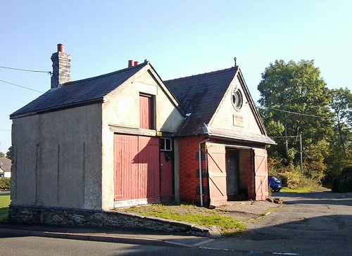 Old fire station in Corwen