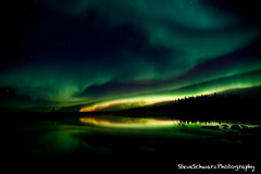 Pontoon Lake - Fringe of Yellow-Orange (SteveSchwarzPhotography) Tags: leica winter sky snow cold landscape photography nikon north aurora land northernlights auroraborealis borealis lenses boreal d700 leitax leica19mm steveschwarzphotography