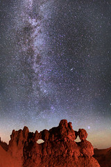 "Stars and Milky Way - Bryce Canyon NP (IronRodArt - Royce Bair (""Star Shooter"")) Tags: park sky southwest nature rock night dark way stars evening twilight sandstone shiny long exposure heaven glow shine time dusk infinity space deep twinkle canyon astro sparkle erosion formation galaxy national astrophotography planet bryce astronomy brycecanyon universe exploration milky cosmic starry cosmos astrology constellation distant milkyway starlight geological brycecanyonnationalpark themask wondersofnature starrynightsky"