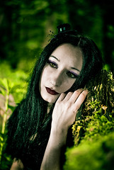 Dreaming (stylesomega) Tags: tree green hat model woods day gothic dream dreaming sou desade stylesomega
