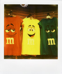M&Ms (Nick Leonard) Tags: city vegas red cute green film yellow analog polaroid sx70 three store clothing colorful candy faces lasvegas chocolate nevada nick expressions scan clothes business shirts thestrip tshirts items mmstore polaroidsx70 lasvegasblvd polaroidlandcamera instantfilm epson4490 mmfactory firstflush colorshade integralfilm nickleonard polaroidsx70model2 theimpossibleproject ndpackfilter px680 px680ff