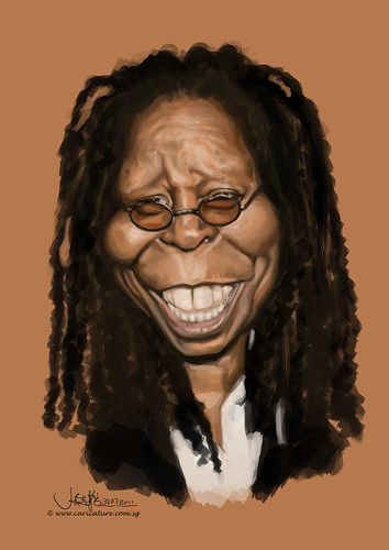 digital caricature of Whoopi Goldberg - 2
