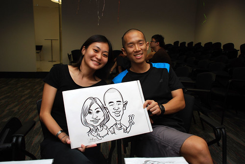 caricature live sketching for iFast Financial Pte Ltd - 13