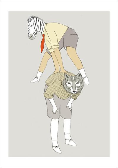 zebra&fox_A4 print