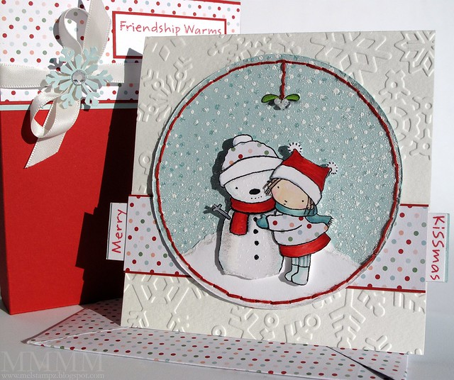 Merry Kissmas card and envelope
