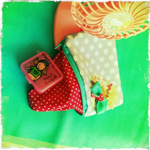 Happy Kathy zippered pouch
