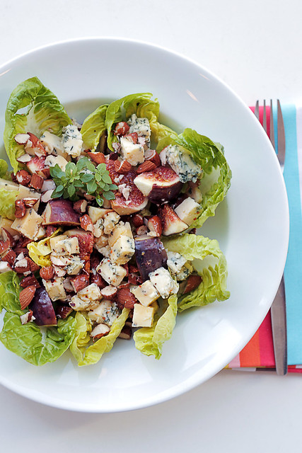 Figs, Blue Cheese and Lettuce